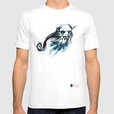 Oni Skull Mens Fitted Tee White MEDIUM