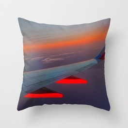 On the Wing of a Sunset Throw Pillow