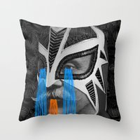 hero Throw Pillows featuring HERO by DIVIDUS