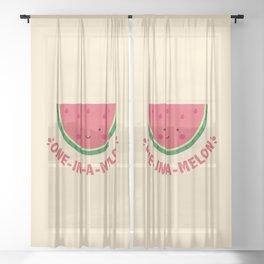One in a Melon (Watermelon) Sheer Curtain