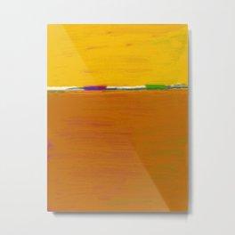 Yellow Horizon Metal Print
