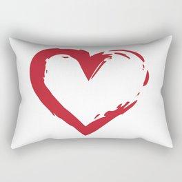 Heart Shape Symbol Rectangular Pillow