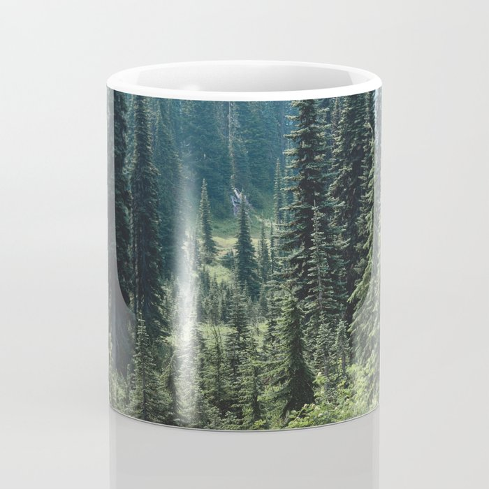Mount Rainier Classic Mountain Meadow - 129/365 Nature Photography Coffee Mug