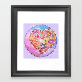 Modern Heart Lavender Framed Art Print