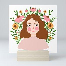 Flourishing Girl Mini Art Print