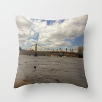pittsburgh Throw Pillows featuring Pittsburgh by Jaime Viens