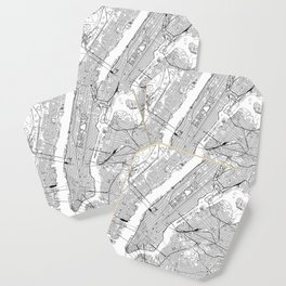 New York City White Map Coaster