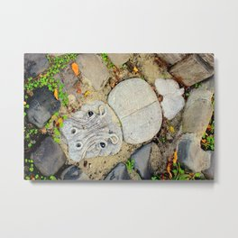 Hippo Camp Metal Print