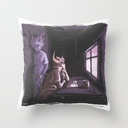 HS SKETCHY_MESSY Throw Pillow