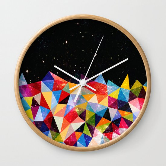 Space Shapes Wall Clock