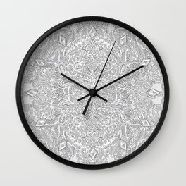 Frost & Ash - an Art Nouveau Inspired Pattern Wall Clock