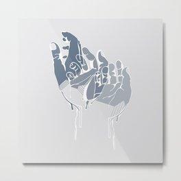 Eczema (Blue) Metal Print