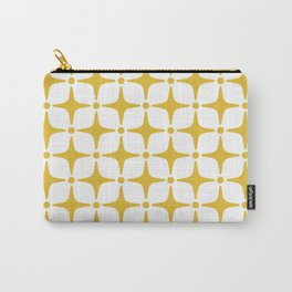 Mid Century Modern Star Pattern Yellow Carry-All Pouch