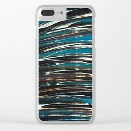 Wave Abstract Clear iPhone Case