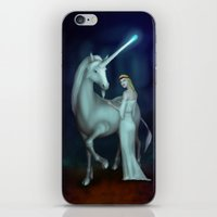 unicorn iPhone & iPod Skins featuring Unicorn by Egberto Fuentes