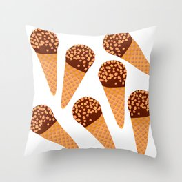 Ice Cream Drumstick Throw Pillow