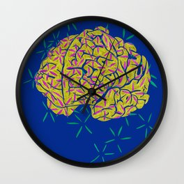 Floral Brain Wall Clock