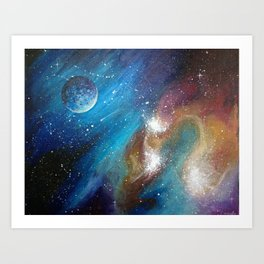 Colorful Galaxy Art Print