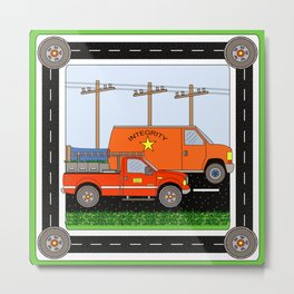 vehicles block Metal Print