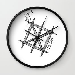 THE GAME_WHITE Wall Clock