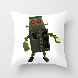 Frankbot Throw Pillow