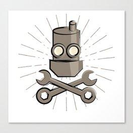 Jolly Robot 02 Canvas Print