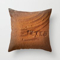 mexico Throw Pillows featuring Mexico by Work to Win