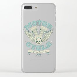 Vintage Retro Motorcycle Engine Mechanic Gift Clear iPhone Case