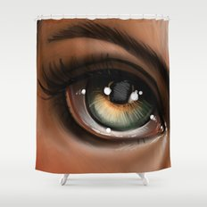 Hazel Eye Illustration Shower Curtain