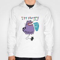 my mad fat diary Hoodies featuring Fat Cat by Andi Bird