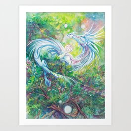 Playful Forest Spirit Art Print