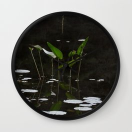 Pickerel Weeds and Lily Pads Wall Clock