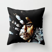fringe Throw Pillows featuring Fringe by D77 The DigArtisT