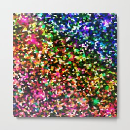 Sublime Color : Rainbow Crystal Pixels Metal Print