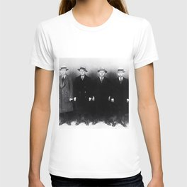 The Syndicate - 'Lucky' Luciano & New York gangsters Ed Diamond, Jack Diamond, & Fatty Walsh black and white photography / photographs T-shirt