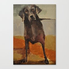 Funny Black Lab Canvas Print