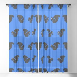 Angry Animals: Squirrel Sheer Curtain