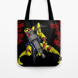 Scud The Disposable Assassin: Jesus with a Laser Gun! Tote Bag