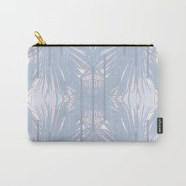 Tropical Art Deco Pattern - Pastel blue and pink Carry-All Pouch