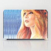 jennifer lawrence iPad Cases featuring Jennifer Lawrence by xDontStopMeNow