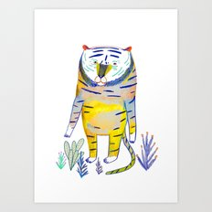 Tiger. tiger art, tiger decor, kids art, Art Print