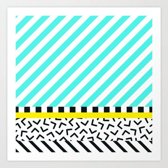 Memphis pattern 82 Art Print