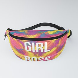 Girl Boss Colorful Rainbow Painting Fanny Pack