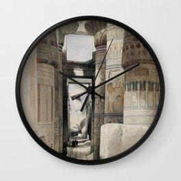 Karnac (Karnak)  by David Roberts (1796-1864) Wall Clock