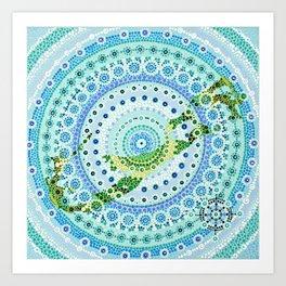 Bermuda Mandala Art Print
