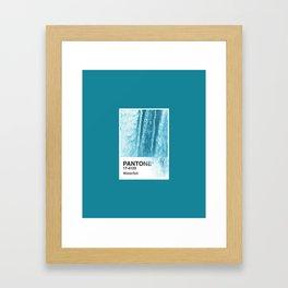 PANTONE SERIES – WATERFALL Framed Art Print