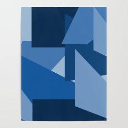 Blu-Geometric Poster
