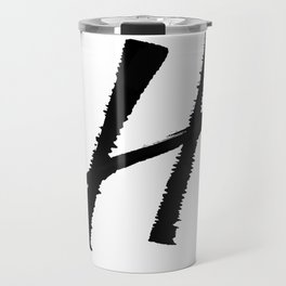 Letter H Ink Monogram Travel Mug