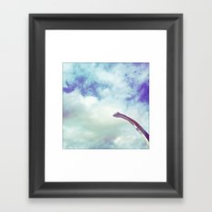 dino in the sky Framed Art Print