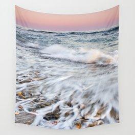Waves At The Beach. Marbella. At sunset Wall Tapestry